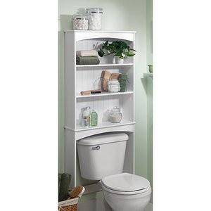 Audrey Bath White Spacesaver Over Toilet Storage Bathroom Cabinet Holly Martin