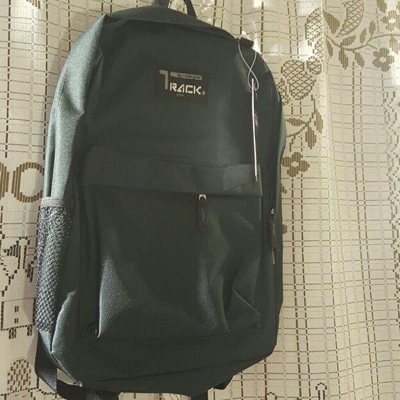 "Track usa backpack college style Dark green. 16'5"" * 13"" * 6'5"" Bags Backpacks"
