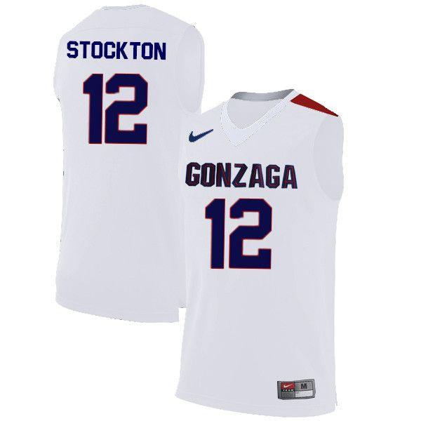 promo code c3cf9 2f036 Men #12 John Stockton Gonzaga Bulldogs College Basketball ...