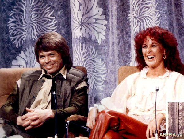 Frida  with Björn in TV show