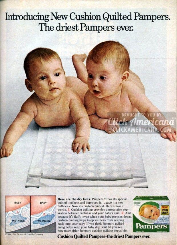 Diaper Ads Huggies Pampers Luvs 1980s Diapers