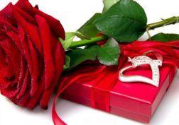 red rose heart love flower box wallpaper