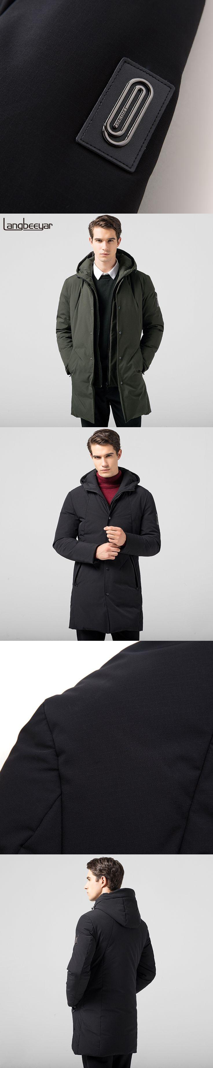 Top Grade New Fashion Men Down Jacket Men Winter Keep Warm Hooded Men Jacket Winter Parka Thick Long Mens Jackets And Coats
