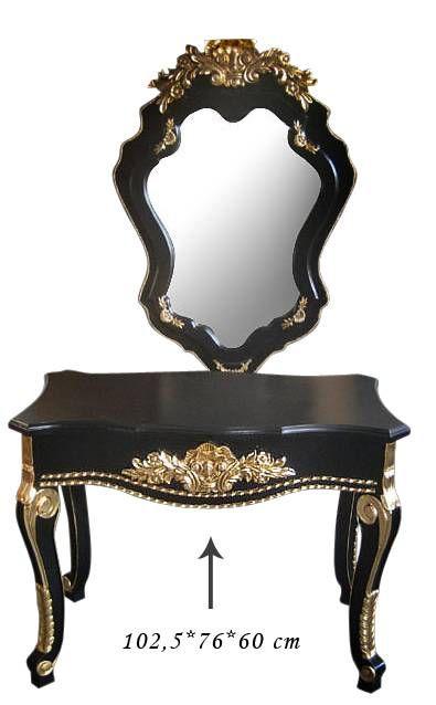 Siyah Gold Dresuar 103x76x60 cm.