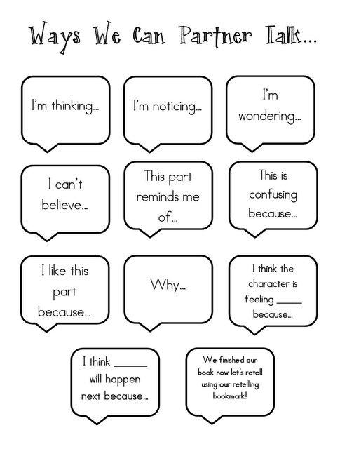 ways we can partner talk anchor chart by bessie