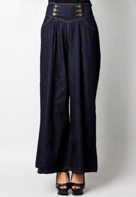 nice >> COSMO POLITE Celana Panjang Kulot Jeans