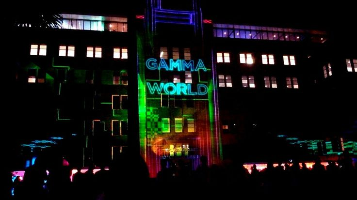 Beautiful lights on MCA Building
