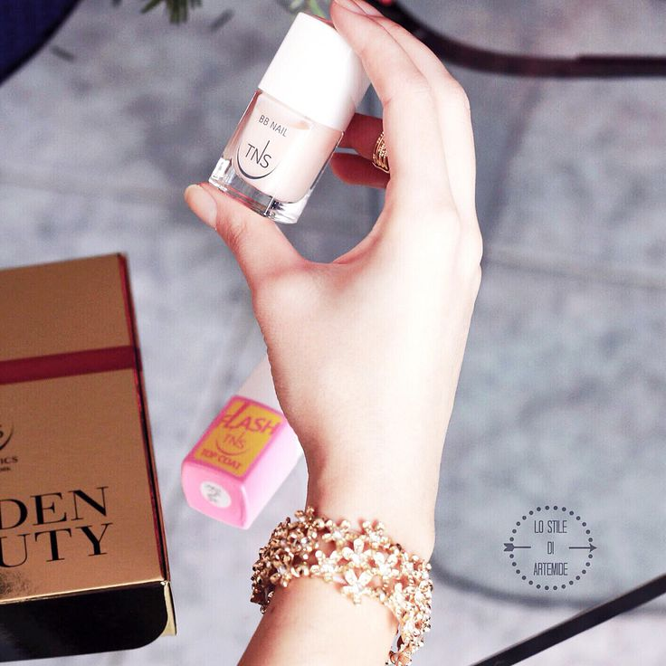 #Barenails nude color with Tns Cosmetics BB nail polish