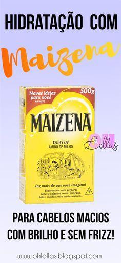 Hidratação com Maizena Hidratação caseira com amido de milho para cabelos…