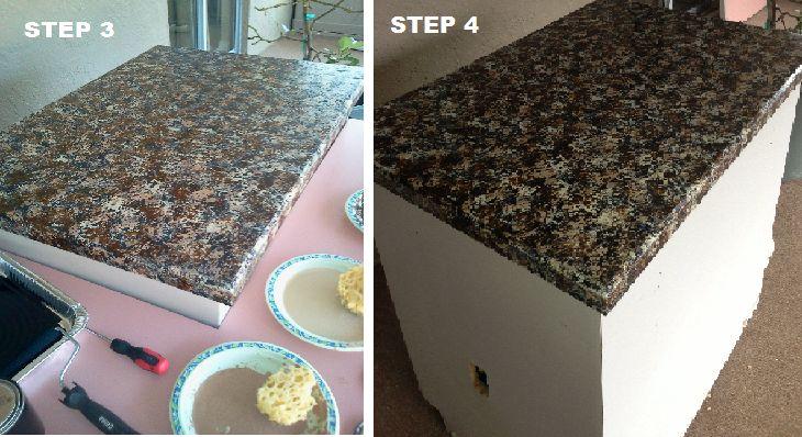 DIY Granite looking paint job countertop redo