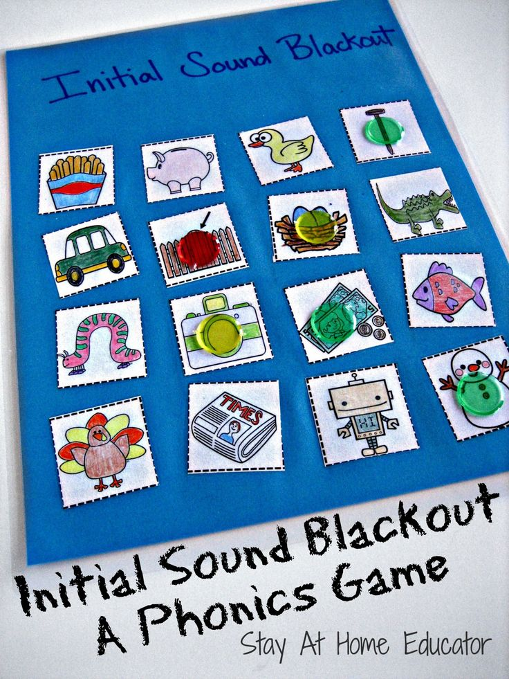 First letter sound blackout game