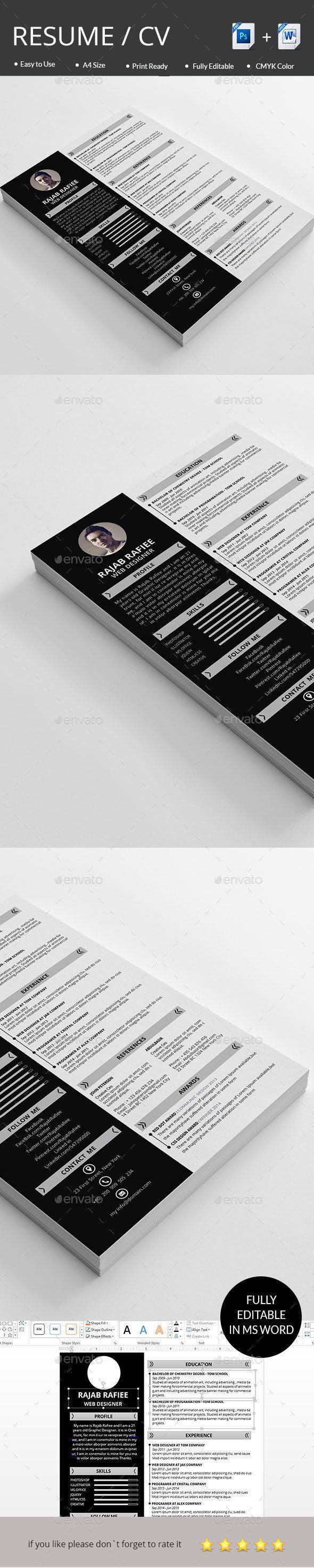 Best 25 Simple Resume Format Ideas On Pinterest Simple Cv