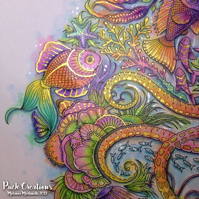 Lost Ocean Coloring Book By Johanna Basford #johannabasford #lostocean Lost  Ocean Coloring Book, Johanna Basford Coloring Book, Joanna Basford Coloring