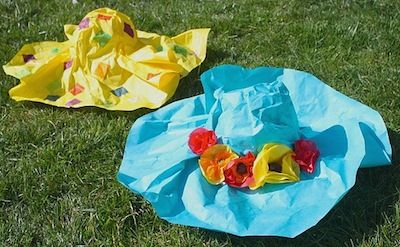 Buggy and Buddy's paper mache Easter hats DIY via The Crafty Crow