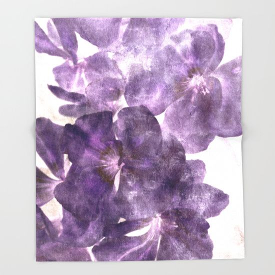 Purple Blossoming Throw Blanket by ARTbyJWP #blanket #throwblanket #bedroom #homedecor #purple ---   Our seriously soft throw blankets are available in three sizes and feature vividly colored artwork on one side. Made of 100% polyester and sherpa fleece, these might be the softest blankets on the planet, so get ready to cozy up. They can be machine washed separately with cold water on gentle cycle. Tumble dry on low heat setting. Do not iron or dry clean.