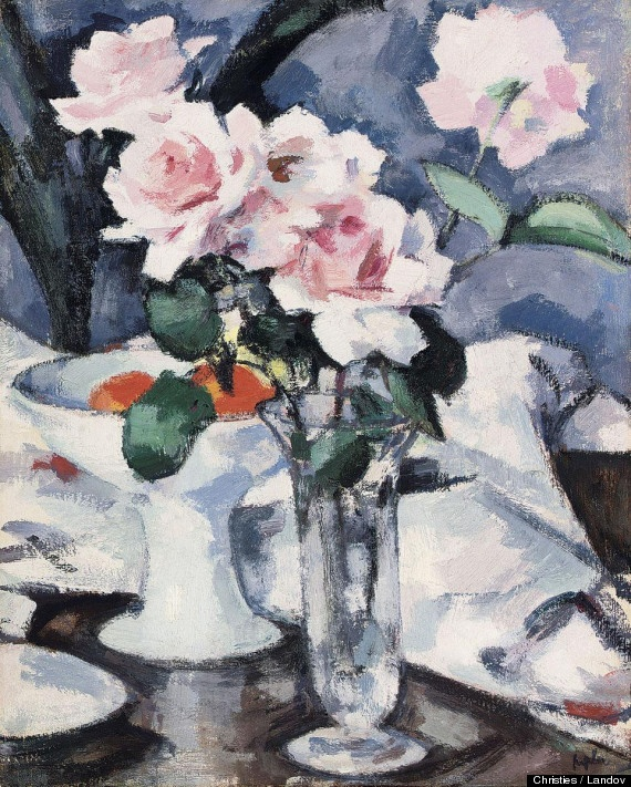 "Recently found Scottish masterpiece. ""Pink Roses,"" an original oil work by one of Scotland's most influential artists, Samuel Peploe. McTear's Auctioneers in Glasgow identified the Peploe, which it values at £300,000, and plans to auction later this month"