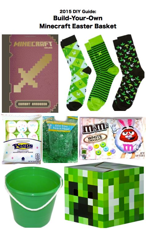 2015 DIY Create Guide: Ideas to Build-Your-Own Minecraft Easter Gift Basket for Children, Kids, Boys, & Girls.