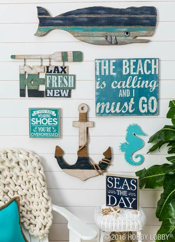 Got sandy toes and sunny days on your mind  Add coastal flair  gorgeous  color  and interesting texture to your space for that by the sea feel you  yearn. 626 best images about Nautical Decor on Pinterest   Nautical rope