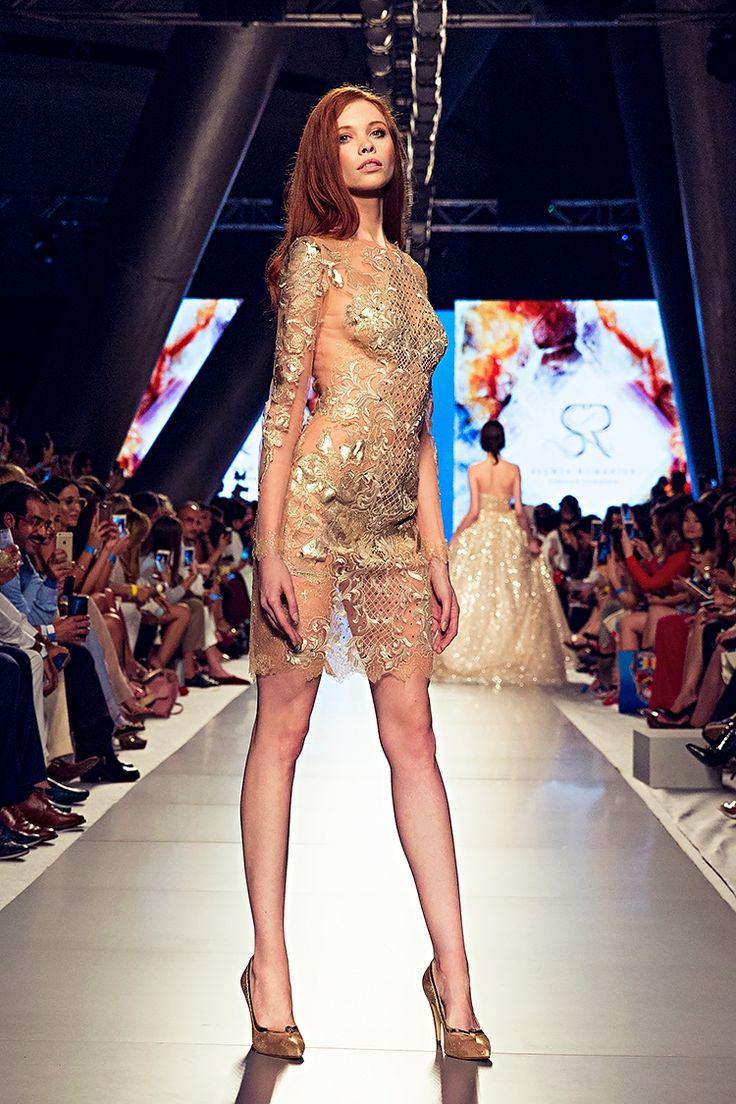 Arab Fashion Week Dubai  fashion show catwalk runway designer lace dress luxury inspiration model beauty art feminity femmefatale sylwiaromaniuk