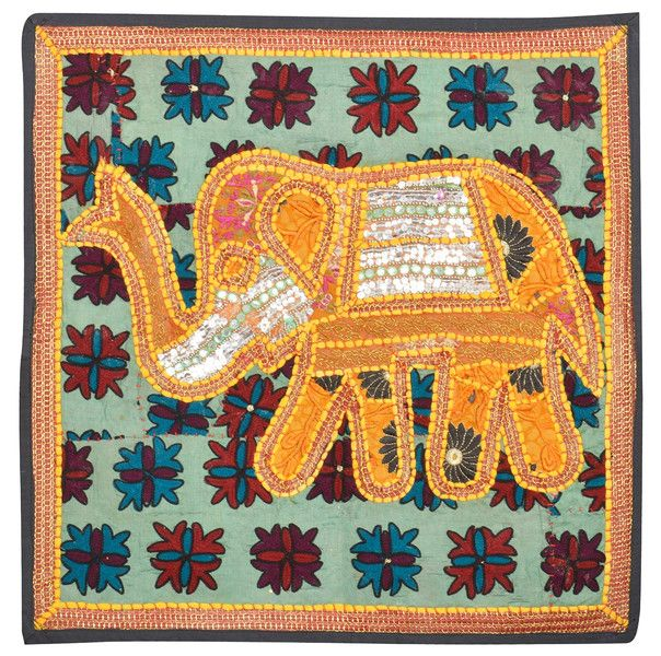 Curtains – Elephant Embroidered Patchwork Tapestry Handmade – a unique product by IndianCraftPalace on DaWanda
