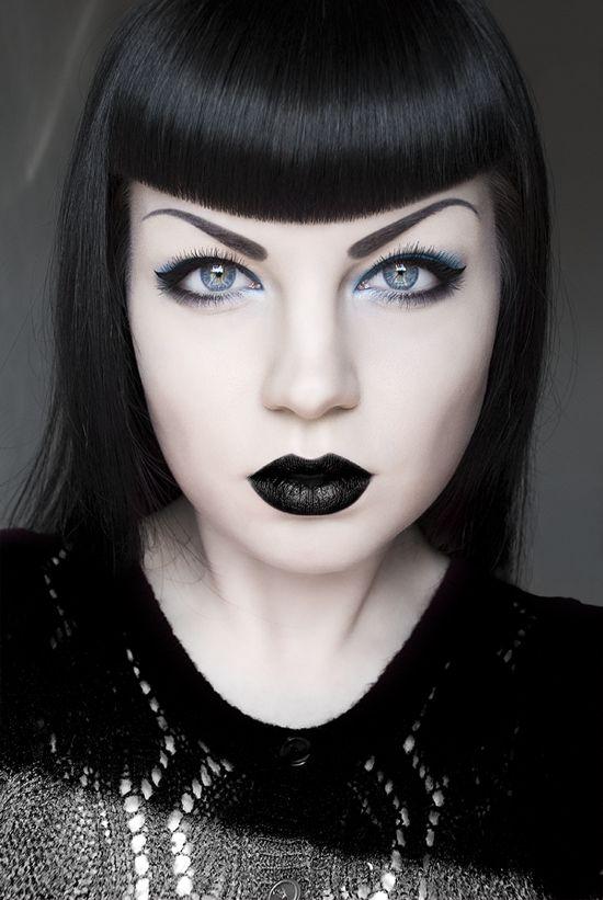 Black & Blue | Self Portrait © 2012 Sarah Smith | Photography, Makeup, & Retouching all by me www.sasphotoimaging.com