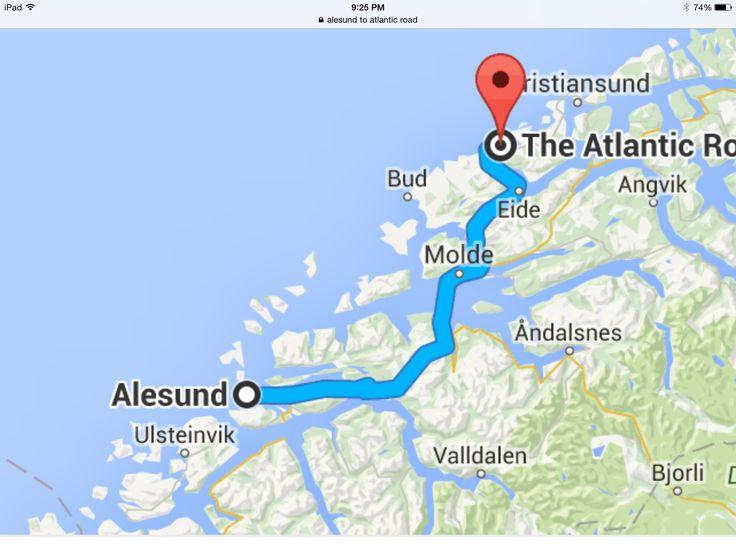 Best Ålesund Images On Pinterest Norway Alesund And Midnight Sun - Norway map alesund