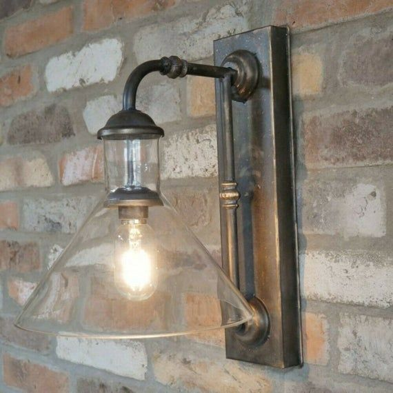 Stunning Industrial Wall Light Lamp In 2020 Industrial Wall Lights Battery Wall Lights Wall Lights