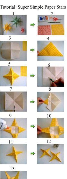 Etoile en papier creation loisir