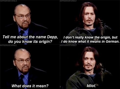 TV / Comedy   ..  Johnny Depp   ...  Inside the Actors Studio- love his face in last picture!