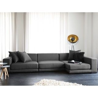 Beliani Grey Fabric Upholstered Modular Sectional Sofa | Overstock.com Shopping - The Best Deals on Sectional Sofas