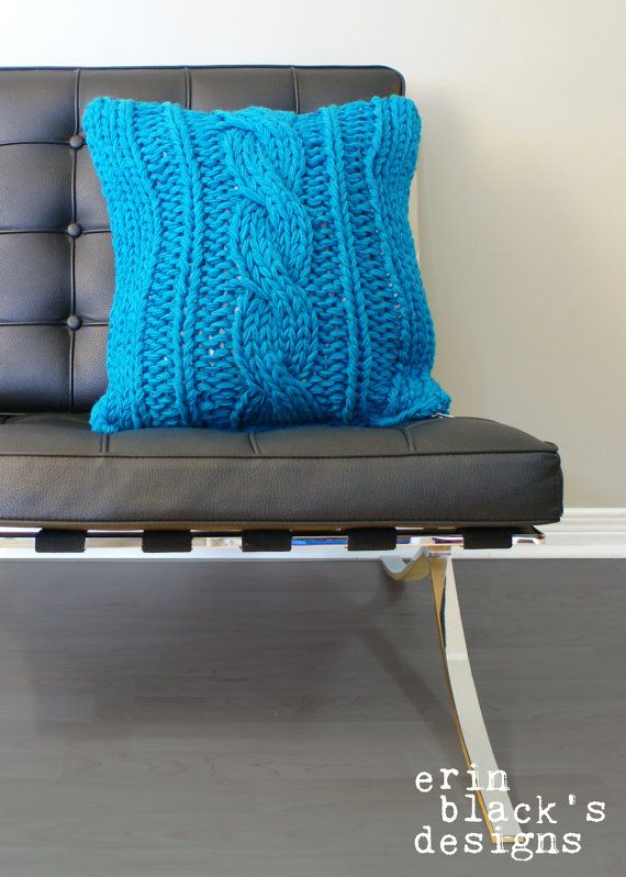 DIY Knitting PATTERN Chunky Cable Twist Knit by ErinBlacksDesigns