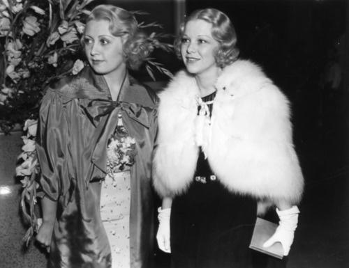 Joan Bondell and Glenda Farrell 1930