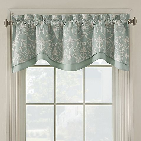 Window Curtain Design Ideas kitchen bay window ideas pictures ideas tips from hgtv hgtv Add Luxury To Any Room With The Salisbury Window Valance Beautifully Embroidered With A Richly