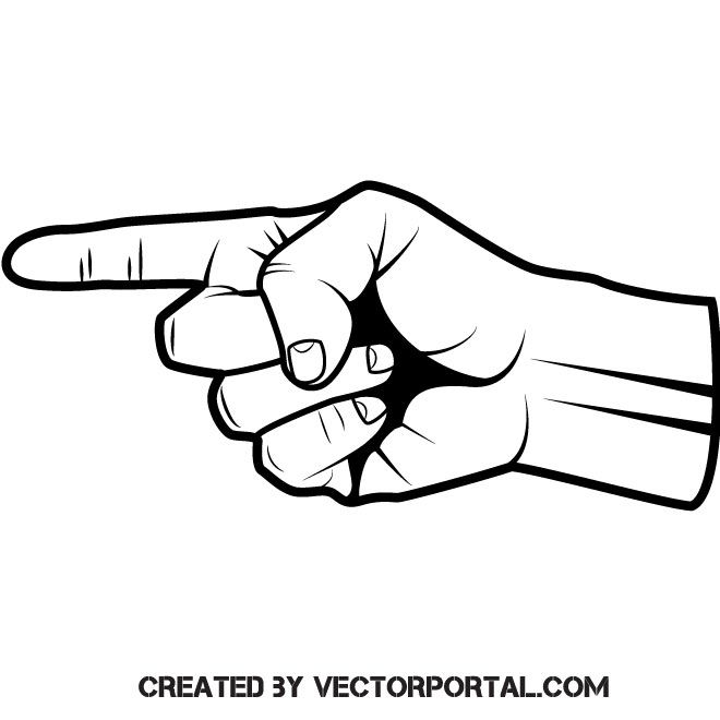 forefinger point vector image pointing hand pattern illustration vector images forefinger point vector image