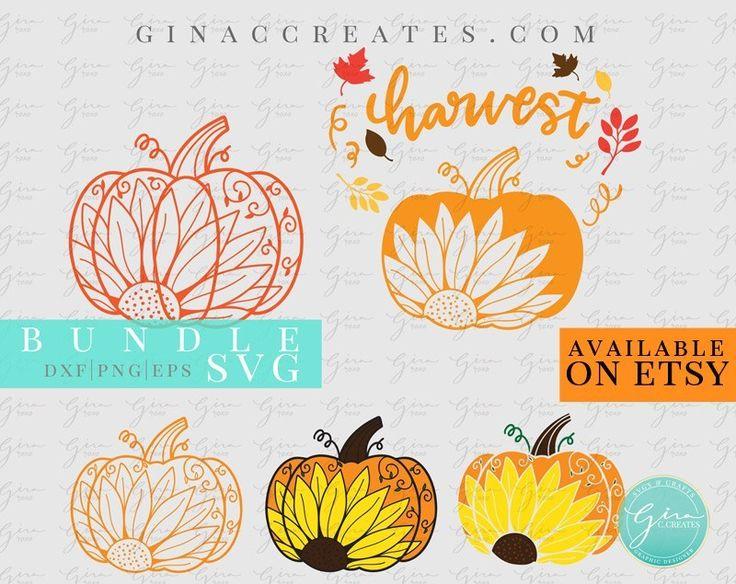Fall Pumpkin Sunflower SVG BUNDLE. pumpkin mandala svg