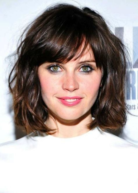 med curly haircuts best 25 medium bob with bangs ideas on 5229 | ac2171c93b6e1c80bd32dc9e287b866d bob haircut with bangs bob hairstyles with bangs