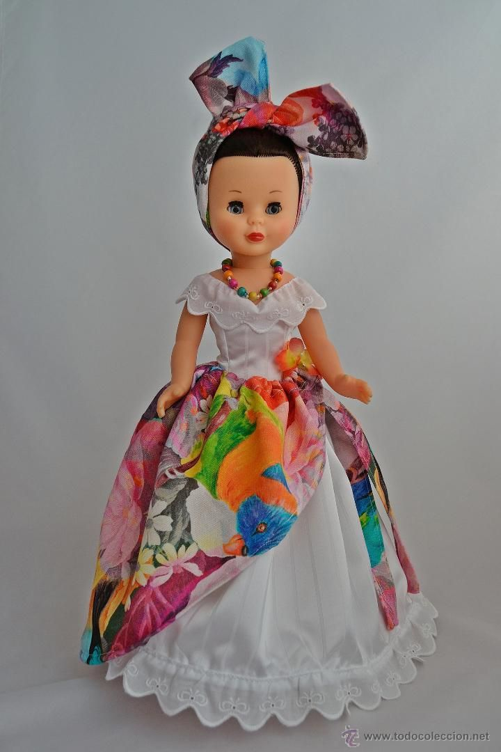 CARIBE CUBA COLONIAL. VESTIDO PARA NANCY DE FAMOSA. (Juguetes - Muñeca española Moderna - Nancy y Lucas, vestidos y accesorios)