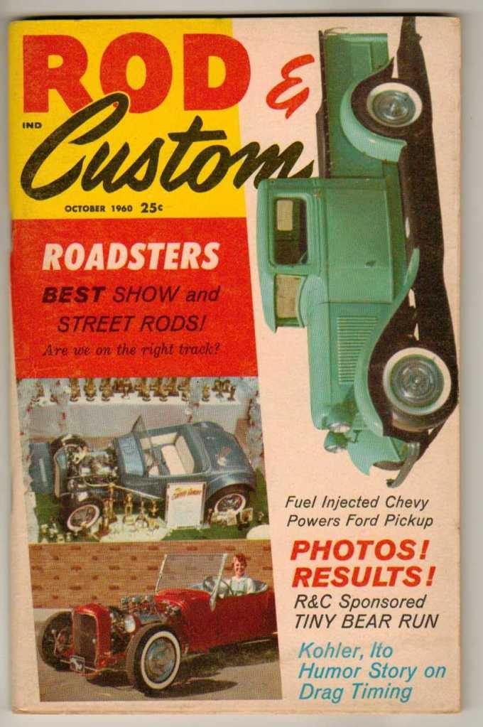 Rod & Custom October 1960 Old Hot Vintage Car Magazine Ford Pickup Enduro