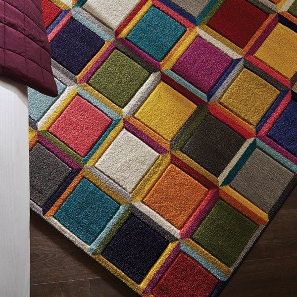 Spectrum Waltz Multicoloured Rugs - Free UK Delivery - The Rug Seller