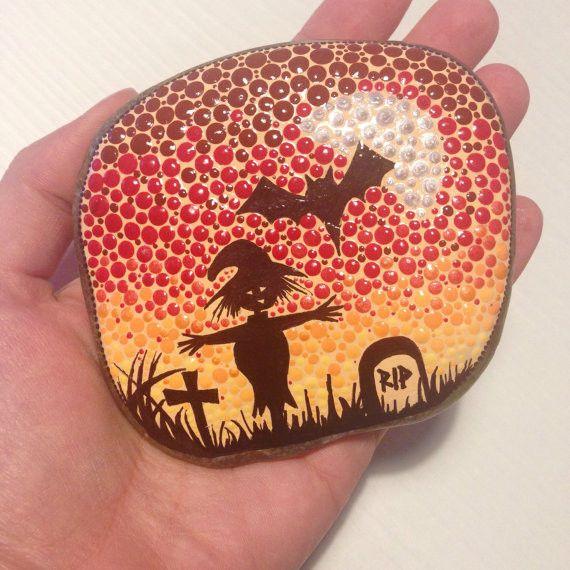 Gartendekoration - Das Halloween, Tag vor Allerheiligen, gespenstig - ein Designerstück von CreateAndCherish bei DaWanda