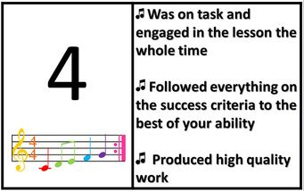 Are You on Target with Your Effort? Music Rubric - Free download