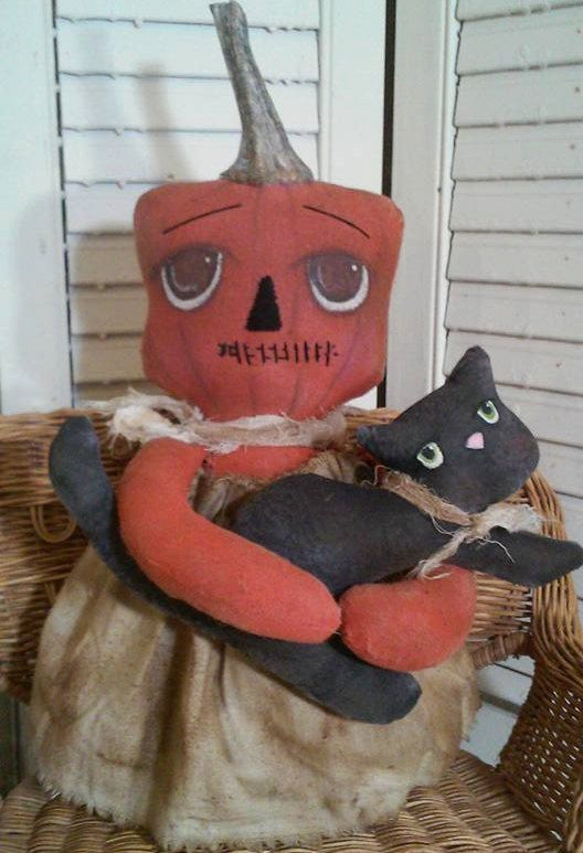 Primitive Fall patternPunkin Pie and Boo Boo kitty is easy peasy to make. - pinned by pin4etsy.com