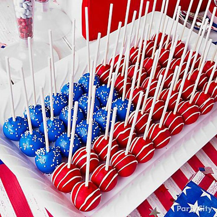 This smart, patriotic setup makes cake pops even more fun to eat.