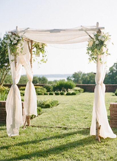 Rustic Wedding 4-Beam Birch Chuppah (500.00 USD) by bostonrustic