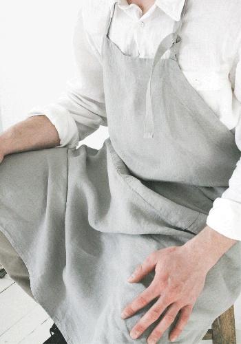 Stonewashed Linen apron