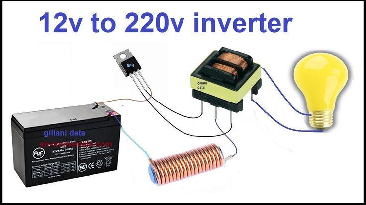 12v to 220v inverter LED bulb inverter in 2020 ...