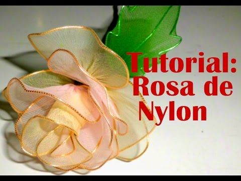 DIY Instruction: How To Make a Rose from Nylon Stocking - DIY Wedding Flower Idea - YouTube