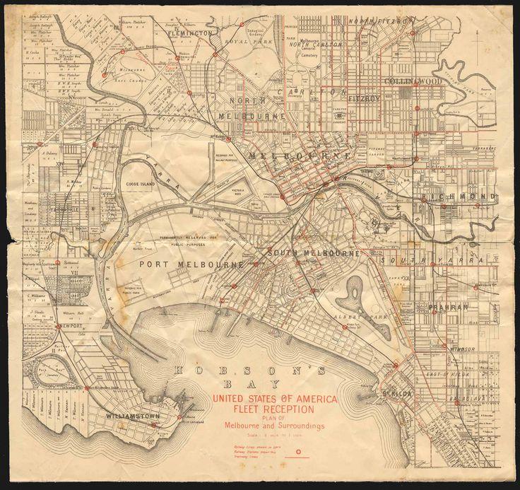 Old Melbourne Map
