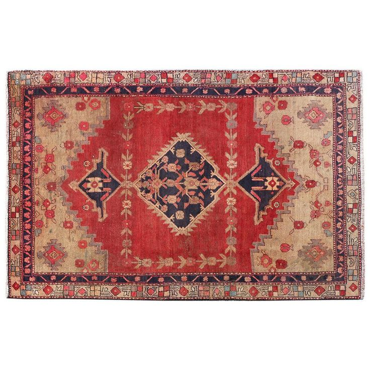 "5'10"" x 4'3"",Vintage Persian rug, Traditional area rug for sale, Floral Pattern, Oriental carpet, Persian Rug, Code : S0101847"