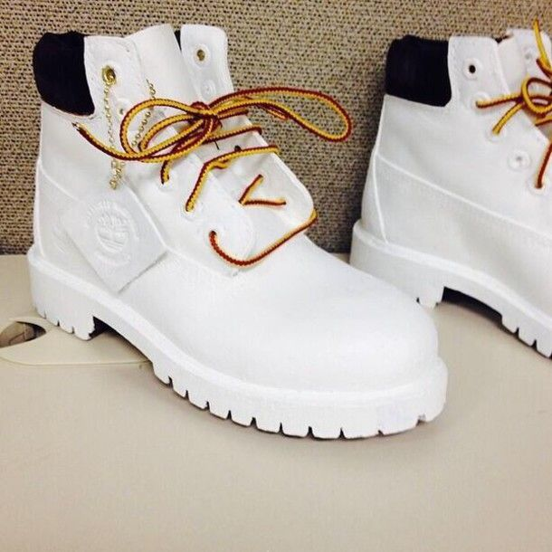 Shoes: white timberlands, timberlands - Wheretoget